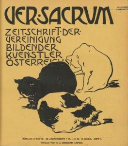 Leopold Stolba, Cats in a chair, Ver Sacrum 3, Marzo 1899