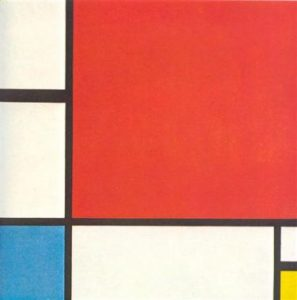 Composition with Red, Blue, Yellow, 1930, P. Mondrian