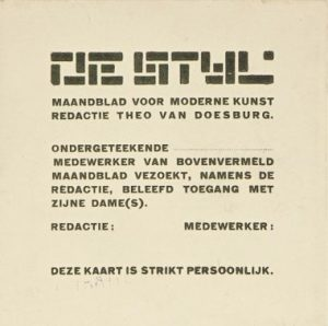 Press Card, 1917-1918, T. v. Doesburg
