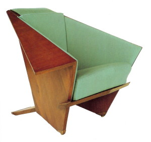 Taliesin Origami Chair, 1949, F. L. Wright