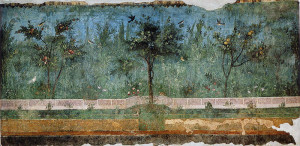 Fresco in second style with some natural elements.