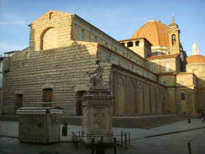 Filippo Brunelleschi, Basilica of San Lorenzo in Florence, Italy.
