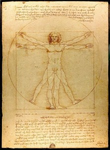 Leonardo da Vinci, Vitruvian Man, c.1492, drawingpen, ink and wash on paper, Accademia of Venice, Italy.