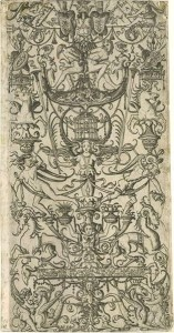 Nicoletto da Modena, a Grotesque engraving on paper, about 1500 - 1512, Italy.