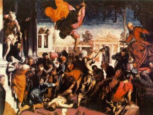 Miracle of the Slave, oil on canvas, 1548 Gallerie dell' Accademia, Venice. These works were well received and greatly enhanced the artist's fame.