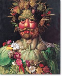 Giuseppe Archimboldo 'Vertumnus - Rudolf II', c1590. Rudolph II (1552-1612), Holy Roman Emperor from 1576, as Vertumnu