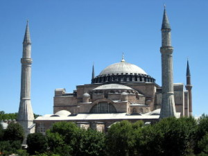 Hagia Sophia, the most famous and most spectacular example of Byzantine architecture.