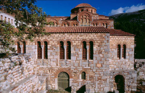Hosios Loukas is a 10th century monastery at the Greek town of Distomo (near Delphi) and one of the finest examples of Byzantine architecture from the so-called Second Golden Age or Middle Byzantine Period, which roughly corresponds to the rule of the Macedonian dynasty.