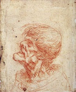 Leonardo Da Vinci Profile Study of a Grotesque Head, c.1500-1505.