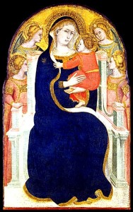 Follower of Pietro Lorenzetti Madonna and Child Enthroned with Angels 1360/70 Italian Tempera on panel Samuel H. Kress Collection.
