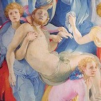 Detail from the Deposition (1526-8) The Altarpiece in the Capponi Chapel of S. Felicita, Florence. By Jacopo Pontormo.