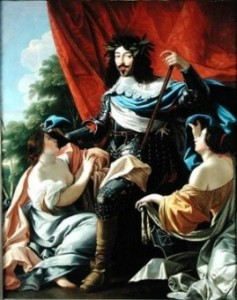 """Louis XIII enters france and the Navarre"" Simon Vouet, second quarter of the 17th century, Louvre Museum, Paris."