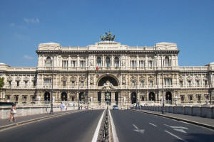 The Palace of Justice, Rome, Designed by the Perugia architect Guglielmo Calderini and built between 1888 and 1910.