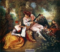 Jean-Antoine Watteau under the Regency.The range of love.