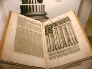 A 1521 Italian language edition of De architectura, translated and illustrated by Cesare Cesariano. Manuscript of Vitruvius, the Wolbert H.M. Vroom Collection, Amsterdam (on exhibition in Brussels)