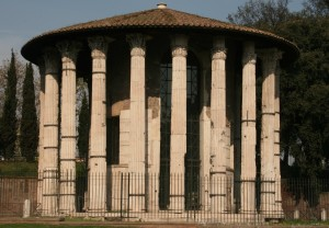 Picture of the temple of Vesta in Rome
