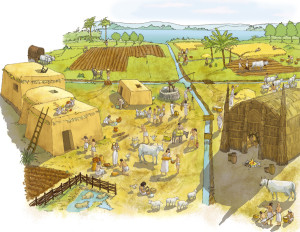 Irrigation system model in Mesopotamia