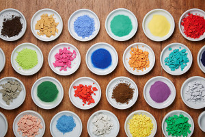 Different colored pigments