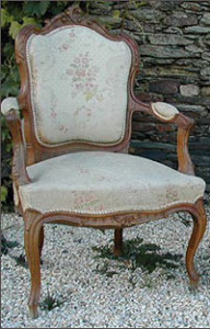 Caned chair in Louis XV style