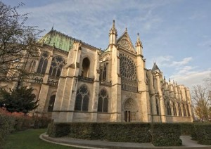 Abbey of Saint Denis, France, designed by Abbot Suger, completed 1144.