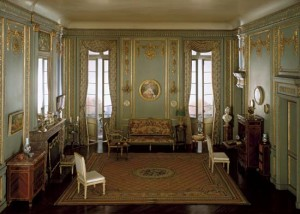 Model of a Louis XVI style boudoir, c. 1780
