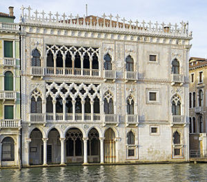 Ca' d'Oro on the Grand Canal, 1428-30.