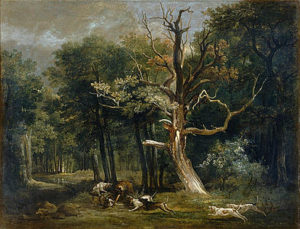 Jean Baptiste Oudry, Wolf hunt in the forest.
