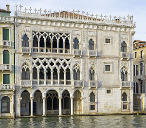 Ca' d'Oro façade overlooking the Grand Canal, Venice, Italy