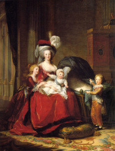 Marie Antoinette Queen of France with her three eldest children