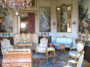 A room furnished in the Louis XV style, Salon des Huets, Paris, France