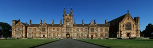 The Main Quadrangle of the University of Sydney, a so-called Sandstone university.