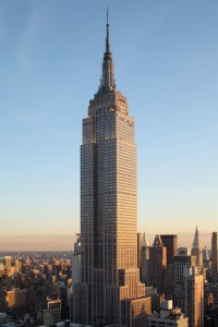 Empire State Building made of Indiana limestone.