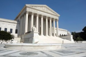 Calcite in the form of white marble was the primary stone used in the Supreme Court building.
