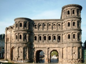 Porta Nigra Trier from the field north.