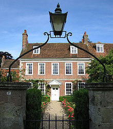 Middle-class Georgian house in Salisbury, England, with minimal classical detail.
