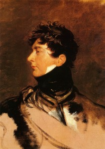 as the Prince Regent,1814.