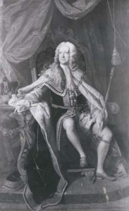 George II, detail of an oil painting by Thomas Hudson, c. 1737; in the National Portrait. Courtesy of the National Portrait Gallery, London.