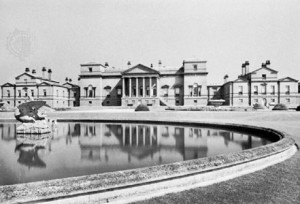 Holkham Hall, by William Kent, Palladian style, begun 1734, Norfolk, Eng.. A.F. Kersting