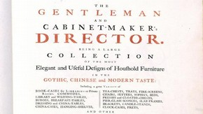 Title page of the 1754 edition of The Gentleman and Cabinet-Maker's Director.