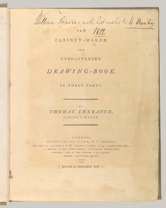 The Cabinet Maker's and Upholterer's Drawing Book's cover.
