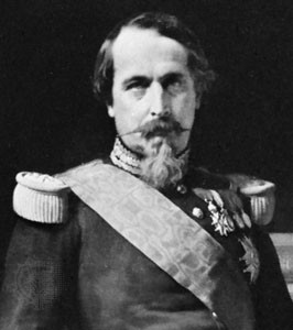 Napoleon III, detail of a portrait by Hippolyte Flandrin.