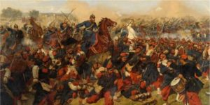 Painting representing a Franco-Prussian War battle.