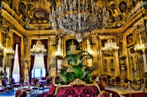 The grand salon in Napoleon III's Louvre apartment.