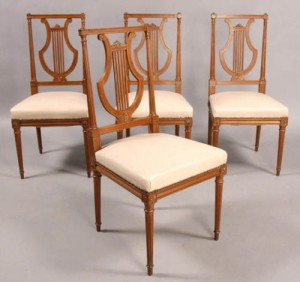 Chairs made of mahogany, Directoire style
