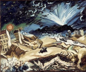 Ludwig Meidner, Paysage apocalyptique, 1913.