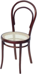 Model no. 14 bentwood chair, Thonet (1859)