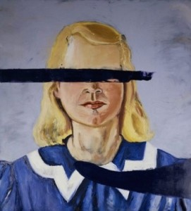 Untitled (Girl with no eyes), J.Schnabel, 2001