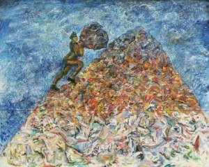 the IDLENESS OF SISYPHUS, SandroChia, 1981 Permanent collection of MoMA, New York