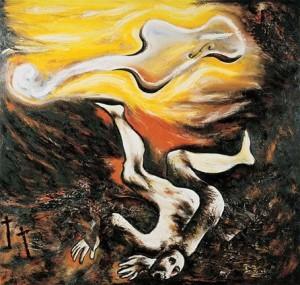 'Musica_Ebbra',_painting_by_Enzo_Cucchi,1982