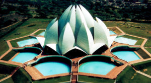 New Delhi's Lotus Temple.